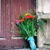 Flowers at a Church Door, Avignon, France, September 2001