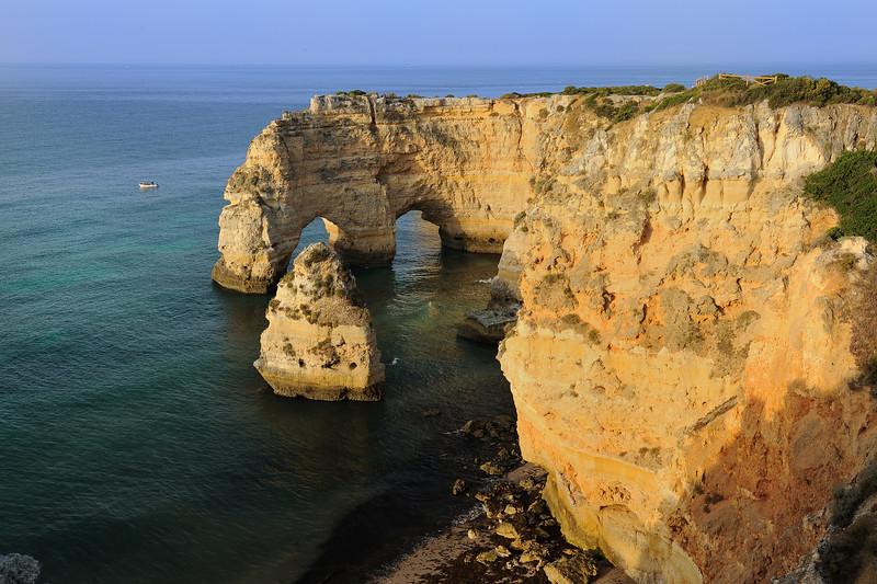 Panaromic view of Marinha Beach in Algarve Portugal