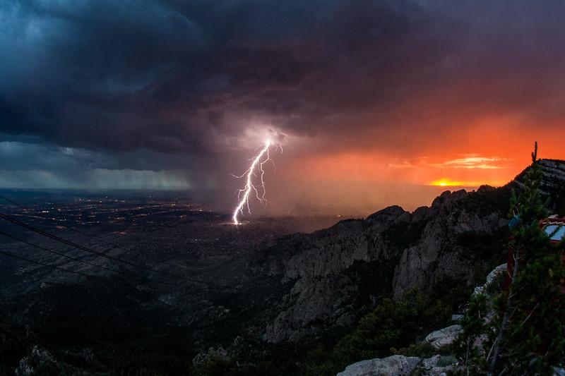 Lightening over the Rio Grande