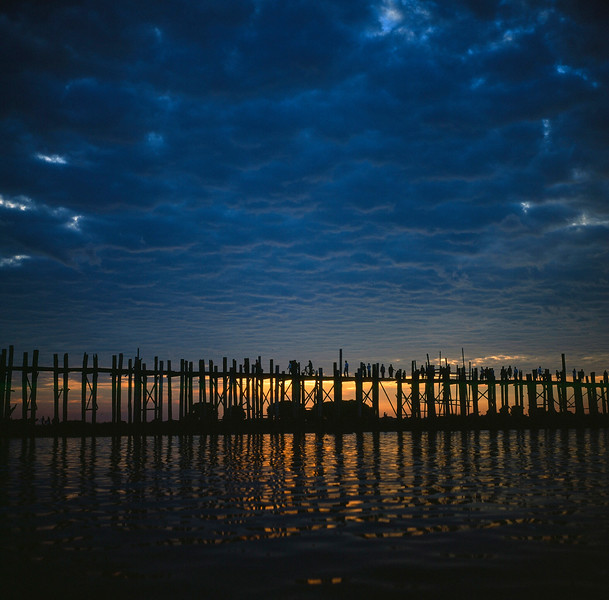 """Sunset on U Bein Bridge"""