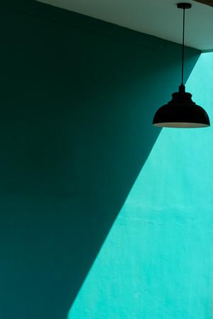 cyan lamp, Tanjong Katong, Singapore