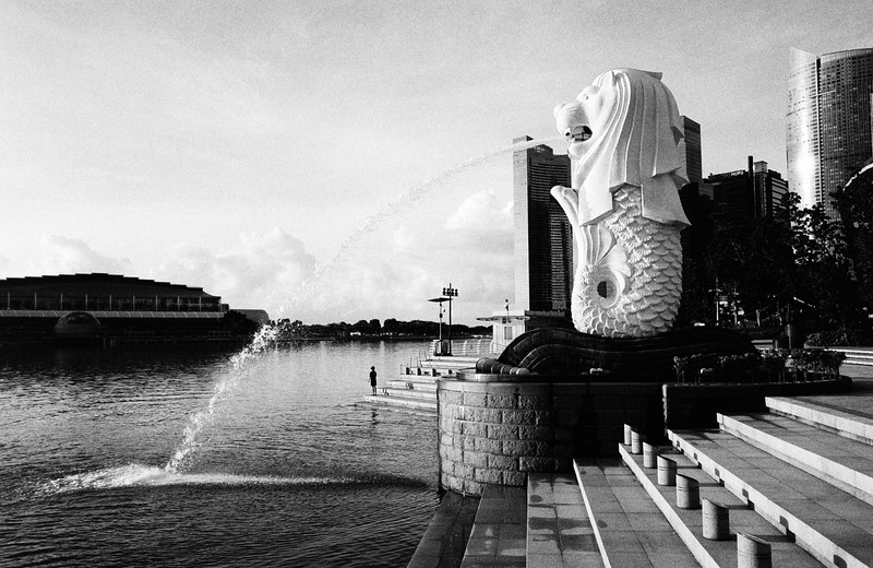 Merlion Park. Singapore.