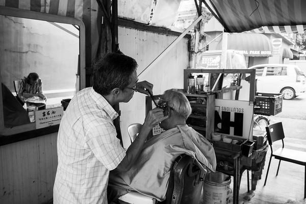 Six dollar hair cut, Aliwal Street, singapore
