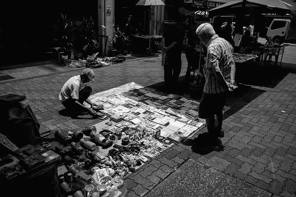 weekend market, chinatown, singapore