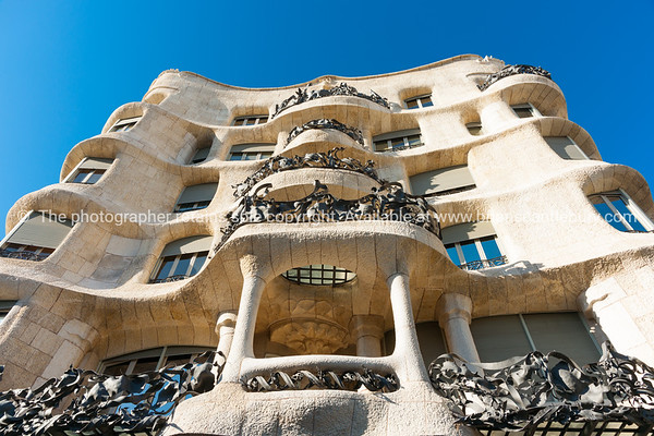Casa Milà also known as La Pedrera is a modernist building in Barcelona, Catalonia, Spain.