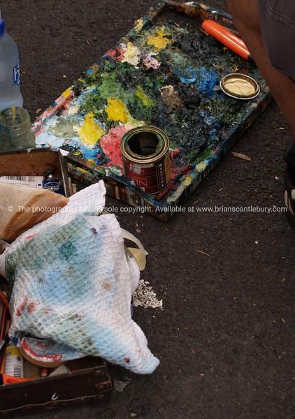 Artist mess.