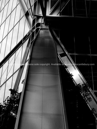 Architectural detail in steel and monochrome.