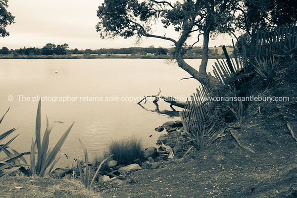 Mangawhai estuary on dull overcast morning