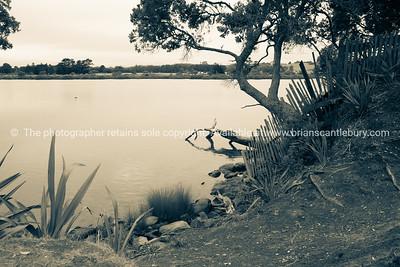 Mangawhai estuary on dull overcast morning