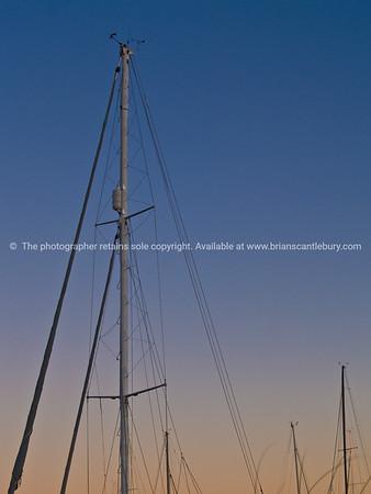 Rigging as sun rises.