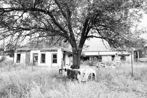 Deserted abandoned motel McLean Texas USA