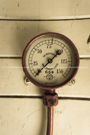 Old pressure gauge.