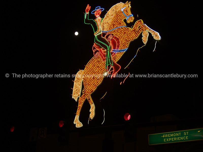 Horse and rider, Las Vegas