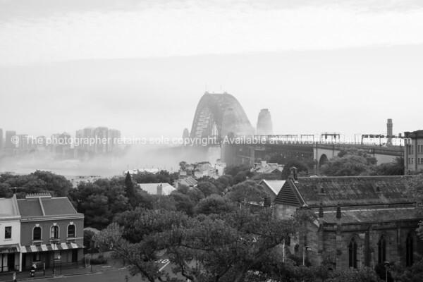 Sydney Brideg in mist