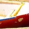 Red dinghy.