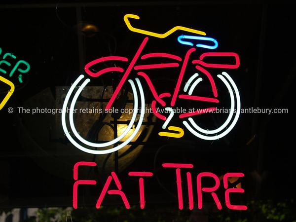 Neon bike.
