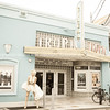 Tropic Cinema, Key West with statue of Marilyn Monroe near entrance.
