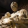 Statue portraying slavery.
