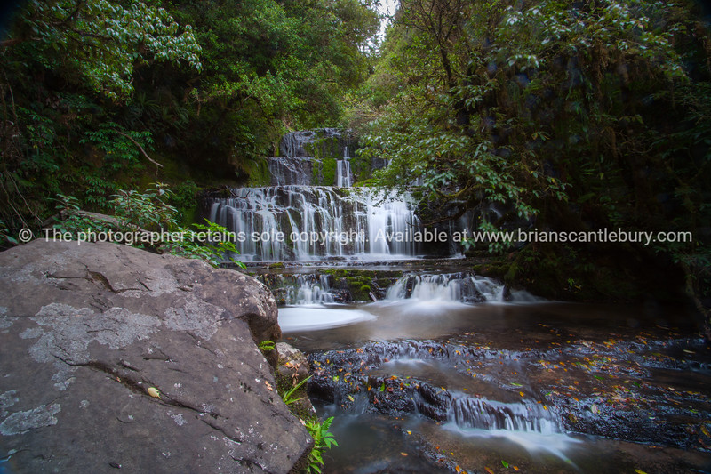 Purakaunui Falls in Catlins South Island New Zealand.