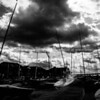 Dark clouds over Whitable waterfront