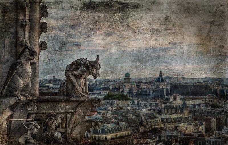 Gargoyles  of Notre Dame, Paris