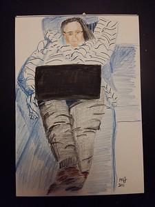 Susanne with Laptop