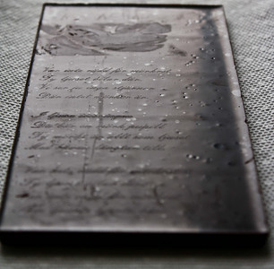 Laser etched chocolate