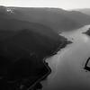 Columbia River Gorge Divides Oregon and Washington State.