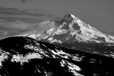 Mt Hood in Black & White