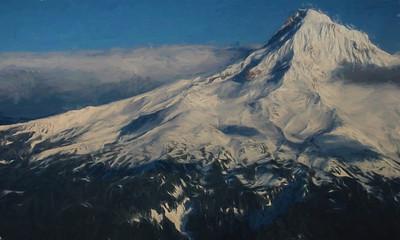 Digital Painting of Mt. Hood, Oregon