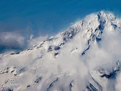 Digital Painting of Mt Hood