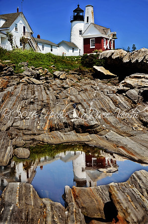 Pemaquid Point Light, located in Bristol, Maine