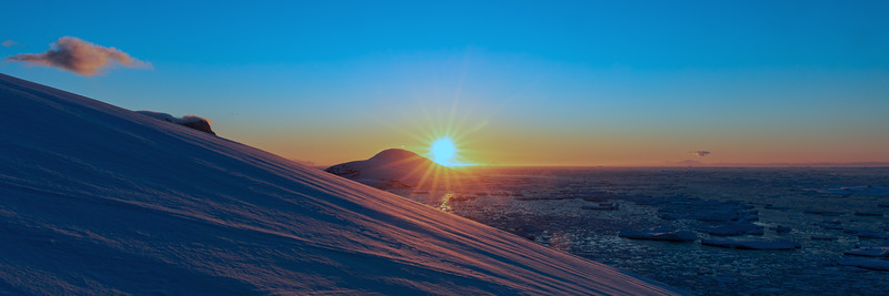 Antarktis Januar 2019 - Sonnenuntergang