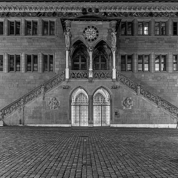 Bern, Rathaus - Nachtaufnahme