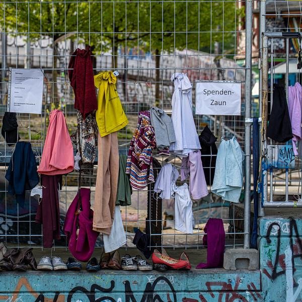 Bern - Spendenzaun vor der Reitschule 2020