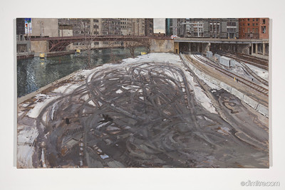 04_Paczos_Chicago_river_from_lake_st _bridge,_looking_south,_2010,_42x25