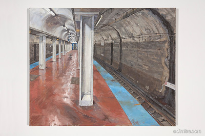 08_Paczos_CTA_blue_line,_Chicago_ave _stop_before_renovations,_2011,_40x33