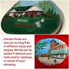Hand painted garden rocks of your home or business, coated with several coats of acrylic finish, suitable for outdoor use. Details and wording to your specifications.  $150