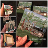 Tiny canvases (3x3) hand painted with your house or business. For propping on a small easel or a hook and ribbon can be added to use as an ornament.  $75