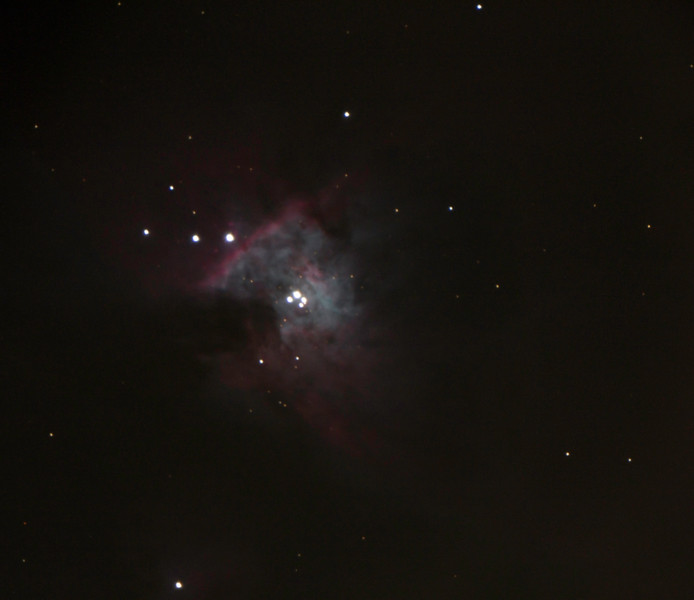 "Great Orion Nebula. Taken with the 16"" telescope at San Jacinto College South. 3 photo panorama"