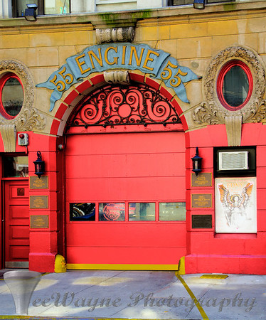 Doors to New York - Fire engine RED!