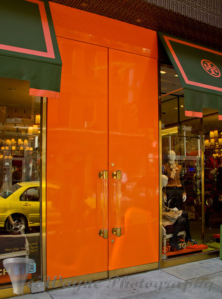 Doors to New York - ORANGE?  Really?