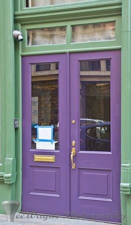 Doors to New York - OK - Green & Purple - I guess...