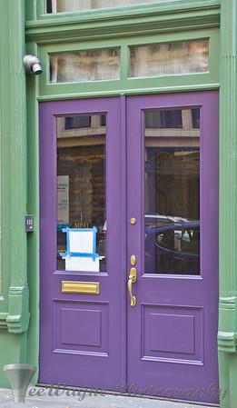 Doors to New York - OK - Green & Purple - I guess...