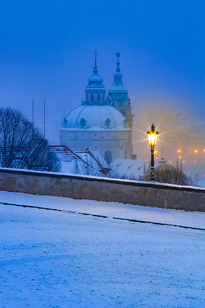 St. Nicholas dome under snow