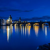 Charles bridge on the rocks