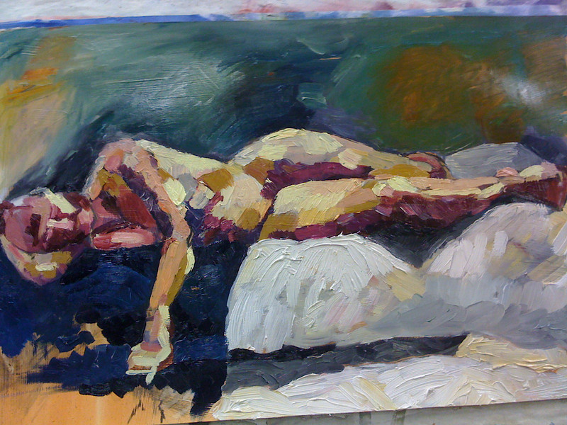 Untitled Figure- Oil on Lenox- SOLD
