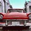 8x10 ford red car blu sky cuba plate TOPAZ