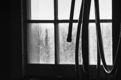 Window and water hose