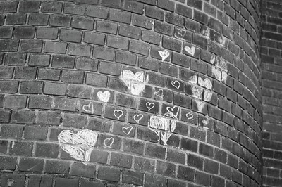 Hearts on a wall